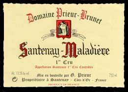 Domaine Prieur-Brunet Santenay-Maladiere Ier Cru  2011