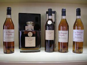 Cognac E. de Moysson Les Borderies LOT N.17 Carafe, Etui